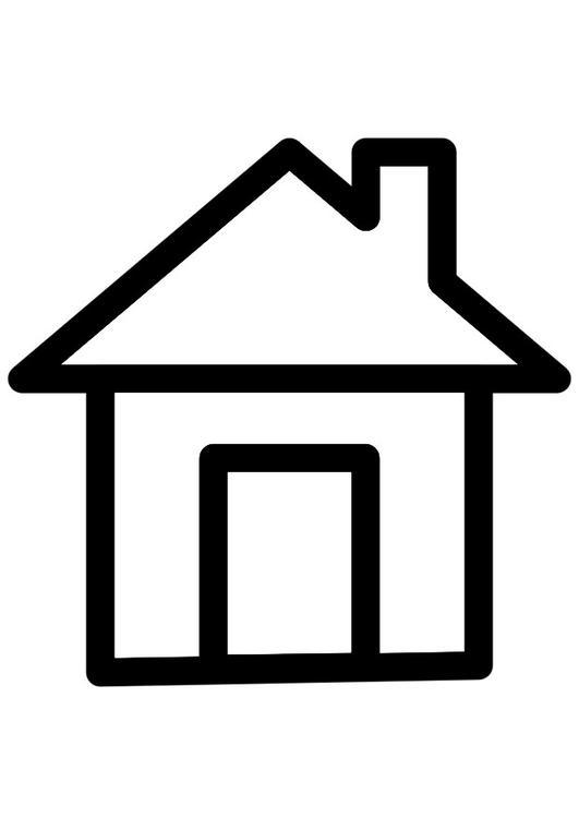 Haus clipart schwarz weiß  Malvorlage Haus | Ausmalbild 28263.