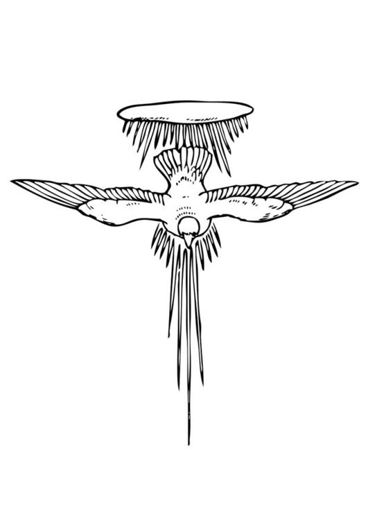 Malvorlage heiliger Geist | Ausmalbild 17377.
