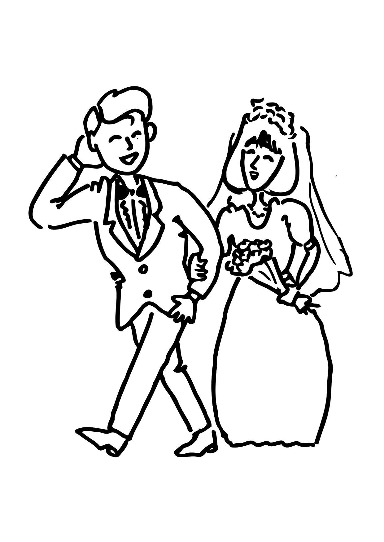 Trouwen Kleurplaat Malvorlage Heiraten Kostenlose Ausmalbilder Zum Ausdrucken