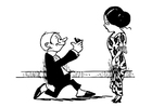 Malvorlage  Heiratsantrag