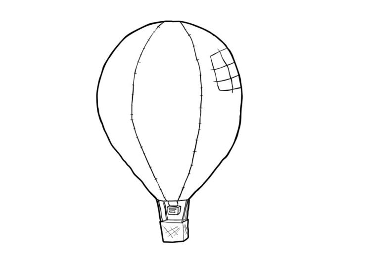 Malvorlage Heissluftballon | Ausmalbild 13773.
