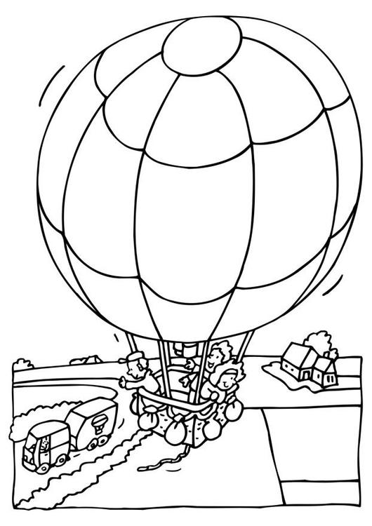 Malvorlage Heissluftballon | Ausmalbild 6522.