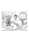 Malvorlage  Heissluftballon