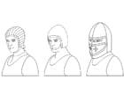 Malvorlage  Helme