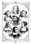 Malvorlage  Henry VII mit seinen 6 Frauen