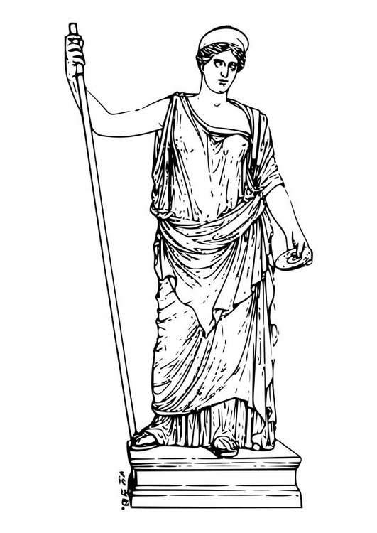 Malvorlage Hera | Ausmalbild 18592.
