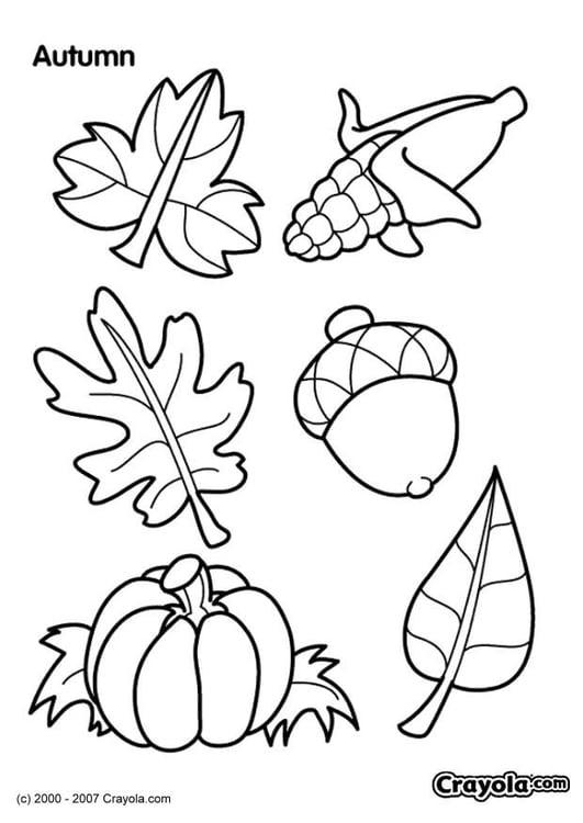 Malvorlage Herbst Ausmalbild 7830
