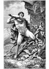 Malvorlage  Hercules und die Schlange