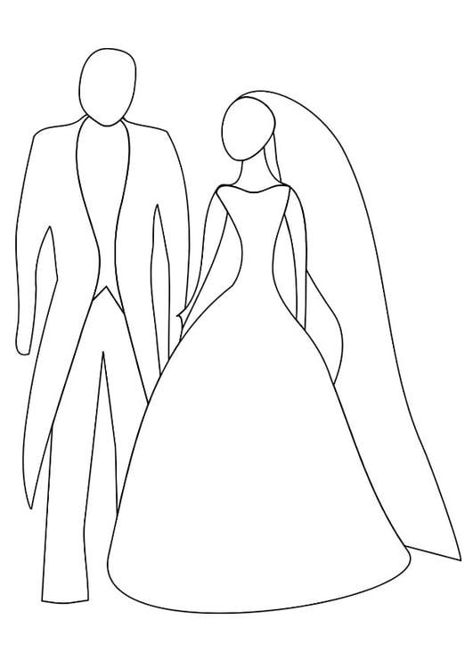 Malvorlage Hochzeit Ausmalbild 20817