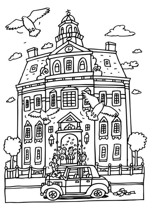 Malvorlage Hochzeit Im Rathaus Ausmalbild 20809