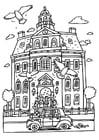 Malvorlage  Hochzeit im Rathaus