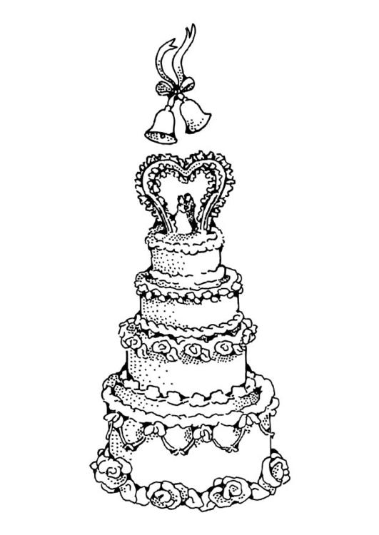 Malvorlage Hochzeitstorte Ausmalbild 17388