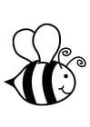 Malvorlage  Honigbiene