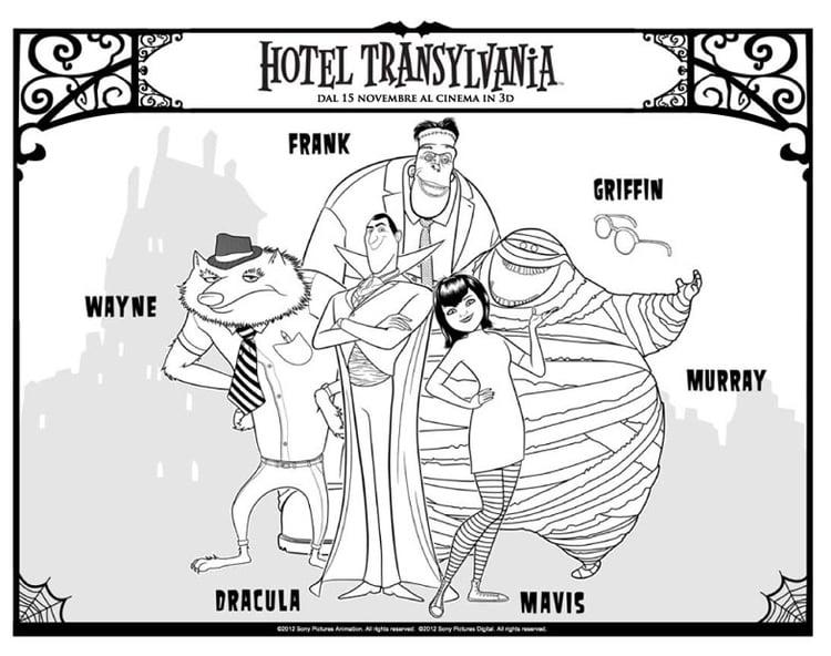 Malvorlage Hotel Transilvania | Ausmalbild 26278.