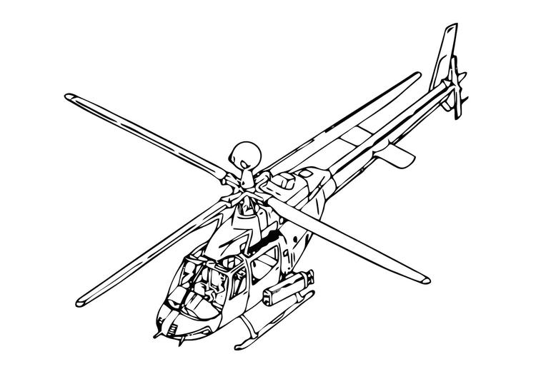 Malvorlage Hubschrauber | Ausmalbild 11862.