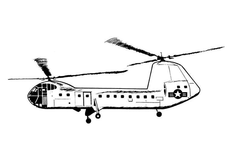 Malvorlage Hubschrauber | Ausmalbild 18901.