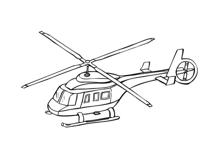 Malvorlage Hubschrauber | Ausmalbild 9662.