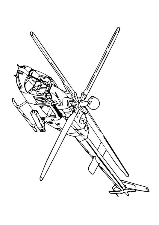 Malvorlage Hubschrauber Ausmalbild 11862