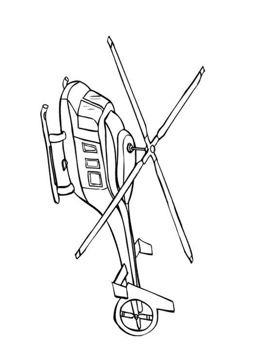 Malvorlage Hubschrauber Ausmalbild 9662 Images