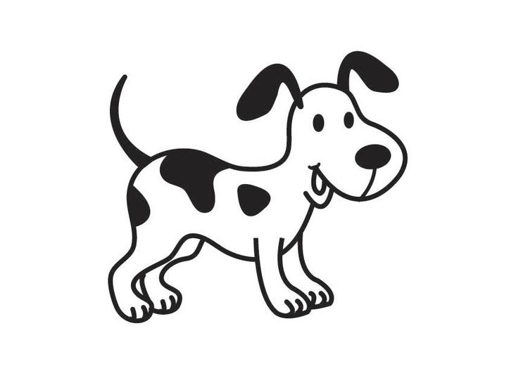 Malvorlage Hund | Ausmalbild 17890.