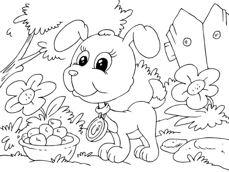 Malvorlage Hundebaby | Ausmalbild 22682.