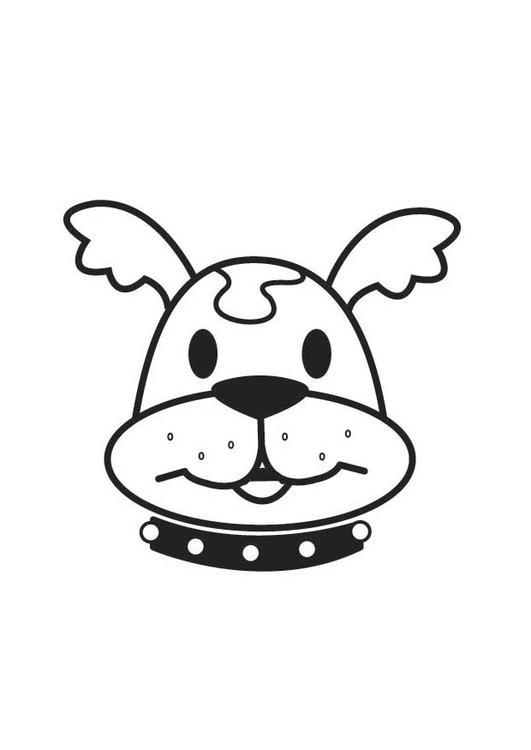 Malvorlage Hundekopf | Ausmalbild 17852.