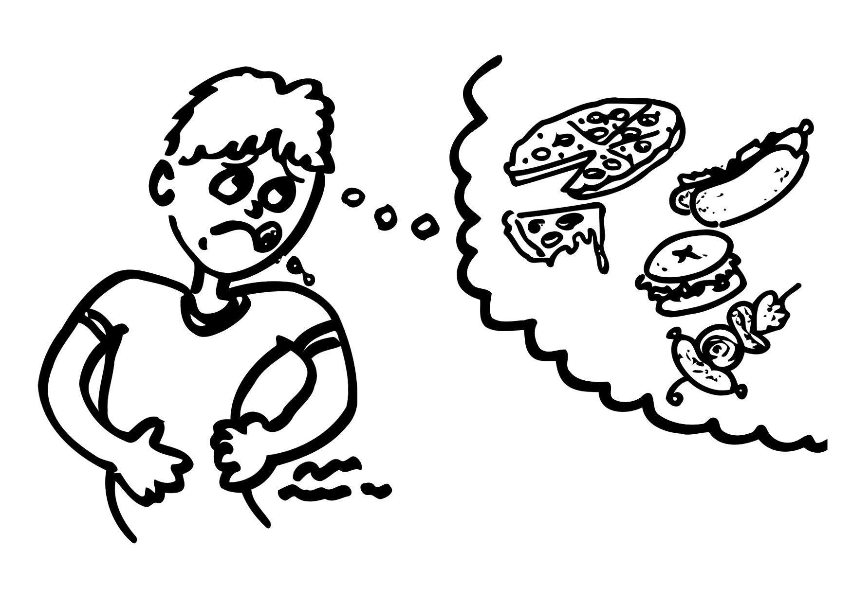 Malvorlage hunger | Ausmalbild 12157.