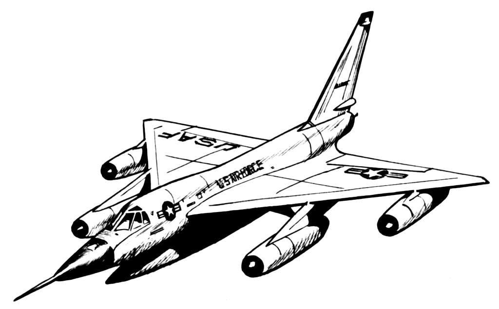 malvorlage hustler  flugzeug  kostenlose ausmalbilder