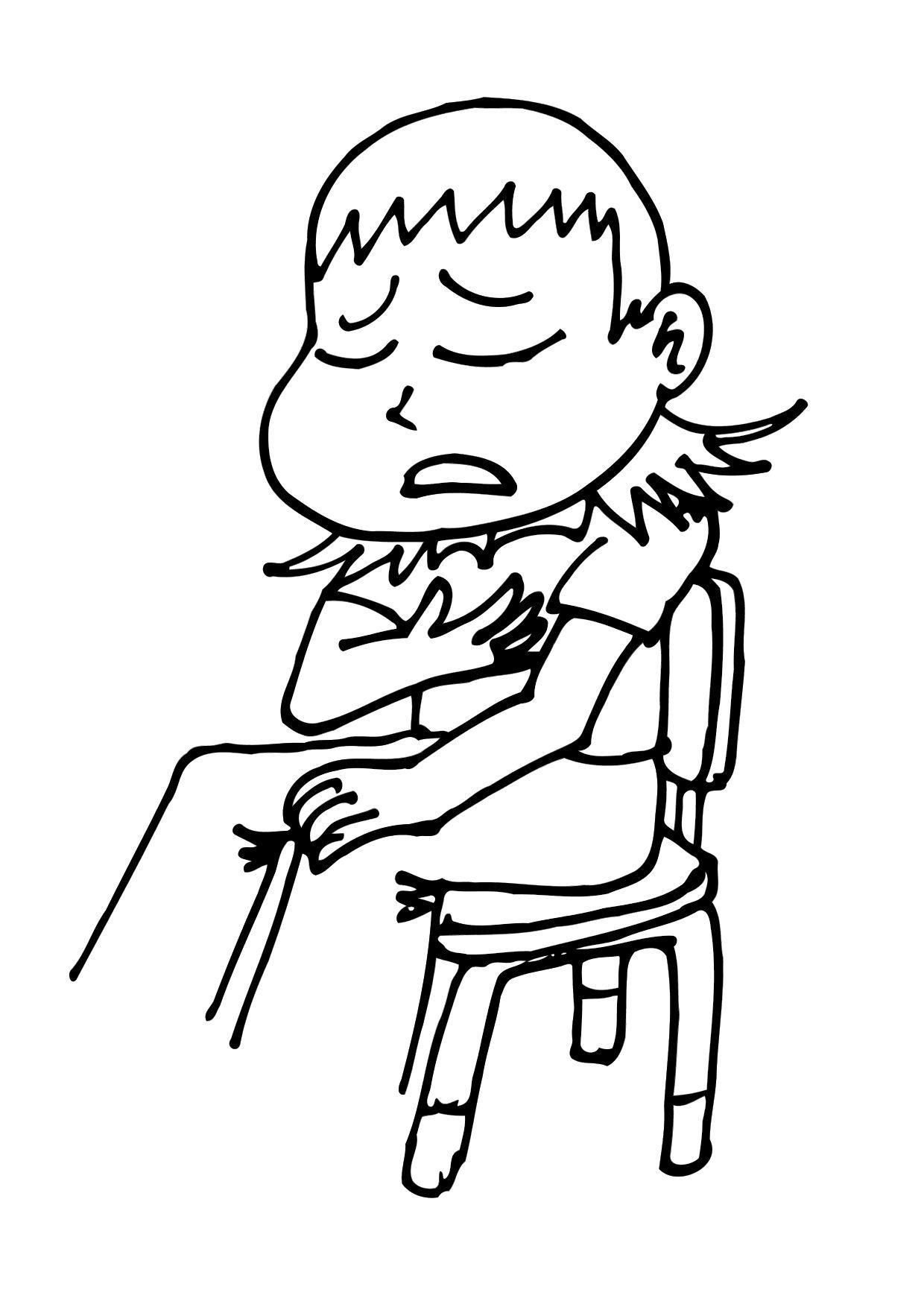 Malvorlage ich fühle mich krank | Ausmalbild 11768.