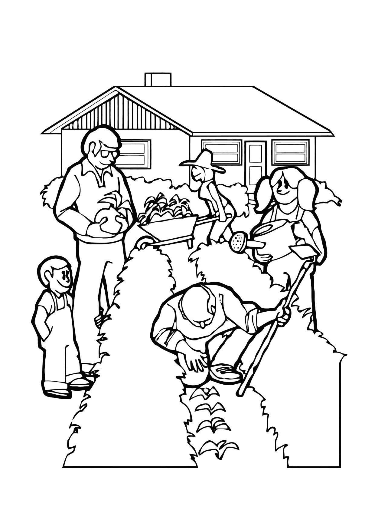 Malvorlage im garten arbeiten ausmalbild 11426 for Garten arbeiten