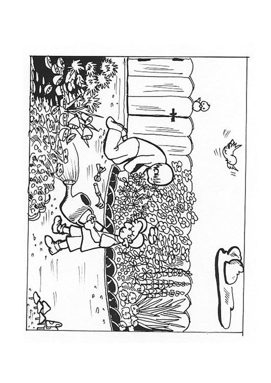Malvorlage im garten arbeiten ausmalbild 9605 for Garten arbeiten