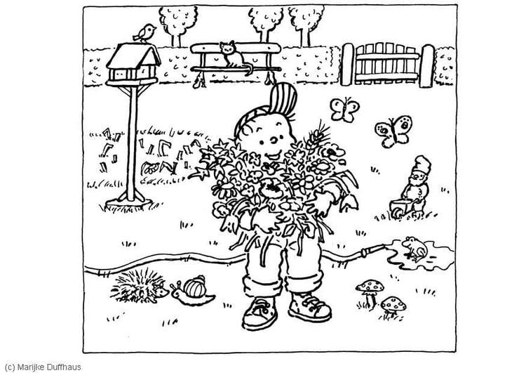 Malvorlage Im Garten Ausmalbild 6470