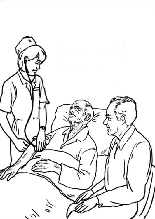 malvorlage im krankenhaus  ausmalbild 21227