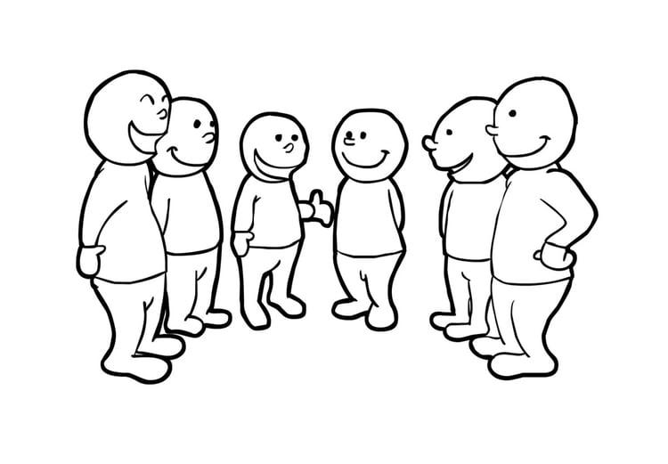 Malvorlage in der gruppe sprechen ausmalbild 14835 for Kleine esstisch gruppe