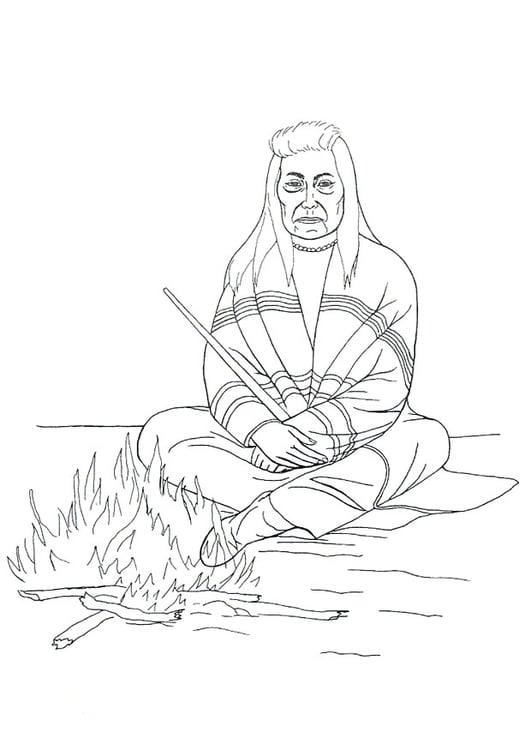Malvorlage Indianer Am Lagerfeuer Kostenlose Ausmalbilder Zum Ausdrucken Bild 9905