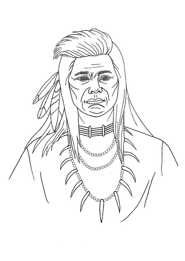 ausmalbild indianer am lagerfeuer