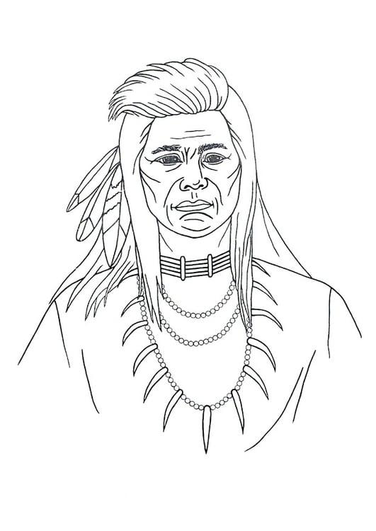 malvorlage indianer  kostenlose ausmalbilder zum