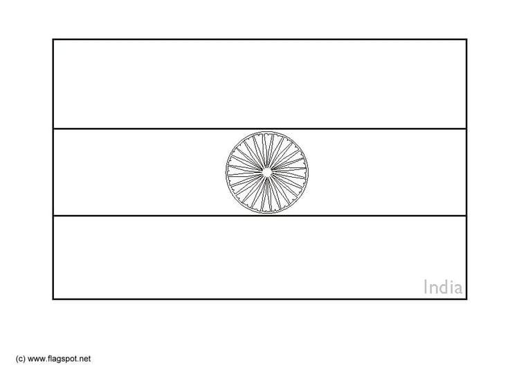 Atemberaubend Indien Flagge Malvorlagen Galerie ...