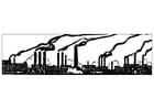 Malvorlage  industrielle Umweltverschmutzung
