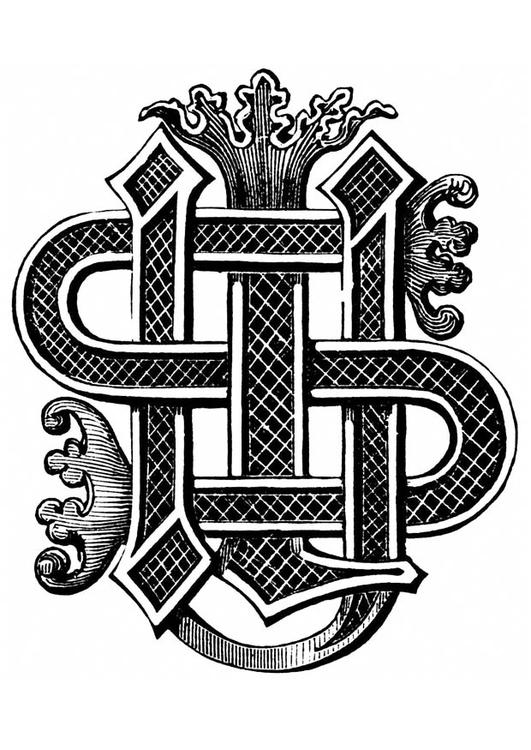 malvorlage initialen von jesus  kostenlose ausmalbilder