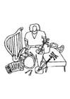 Malvorlage  Instrumente