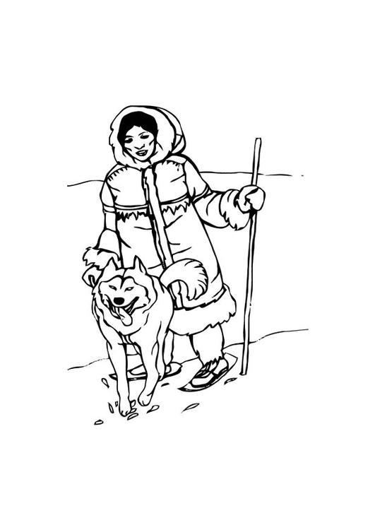 malvorlage inuit ausmalbild 10587