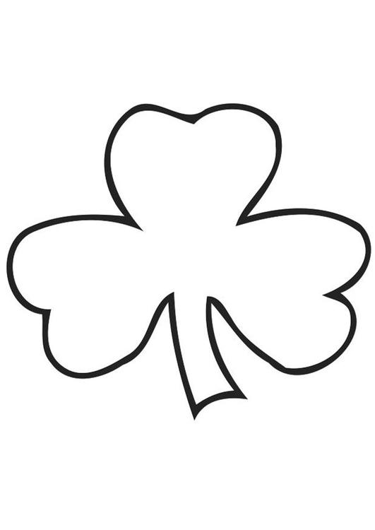 malvorlage irisches kleeblatt  shamrock  kostenlose