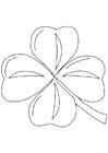 Malvorlage  Irisches Kleeblatt - Shamrock