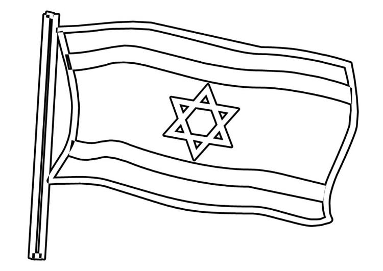 Malvorlage israelische Fahne   Ausmalbild 22930.