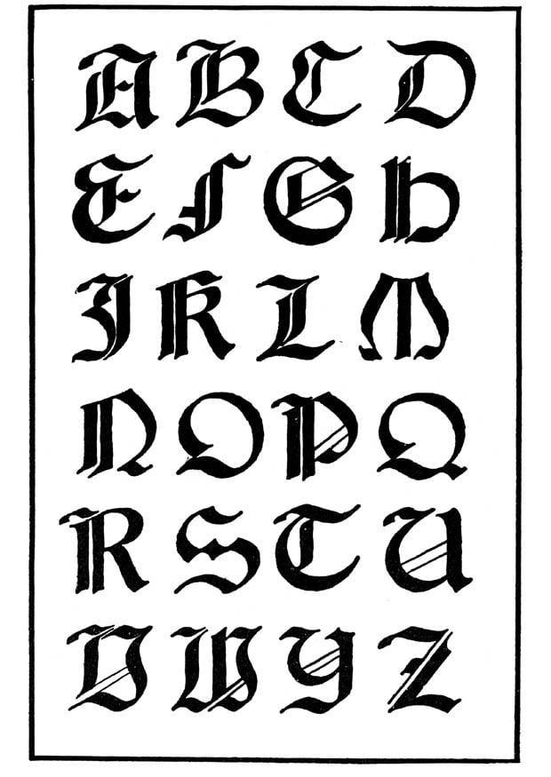 malvorlage italienisch gotische schrift  kostenlose
