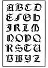 Malvorlage  italienisch gotische Schrift