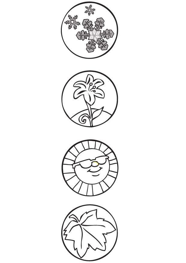ausmalbilder 4 jahreszeiten