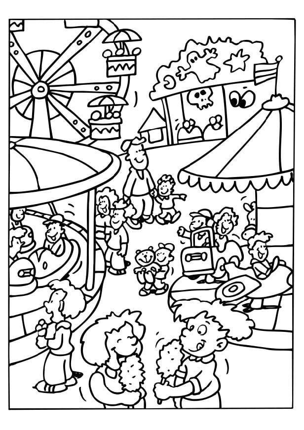 malvorlage jahrmarkt  ausmalbild 6514