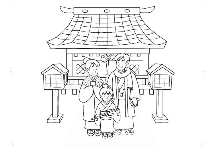 Malvorlage Japanische Tracht   Ausmalbild 30314.